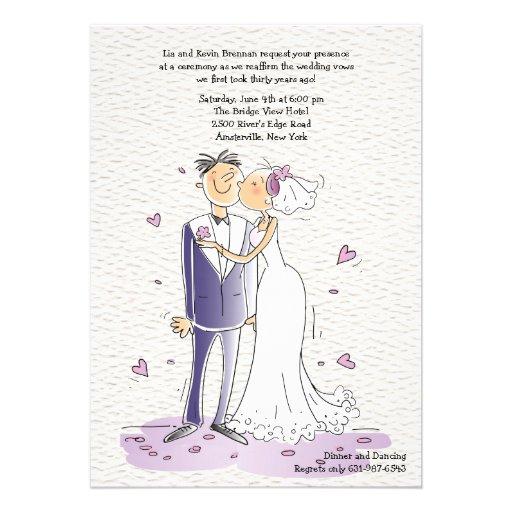 Cute Bride and Groom Anniversary Invitation