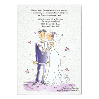 Cute Bride and Groom Anniversary Invitation