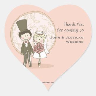 Cute Bride and Groom Sticker/Return Address Label