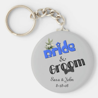 Cute Bride And Groom Wedding Keychain