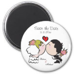 Cute Bride & Groom Save the Date Magnets