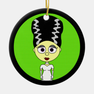 Cute Bride of Frankenstein Christmas Ornament
