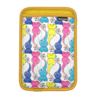 Cute bright baby elephants design iPad mini sleeve
