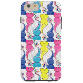 Cute bright baby elephants design tough iPhone 6 plus case