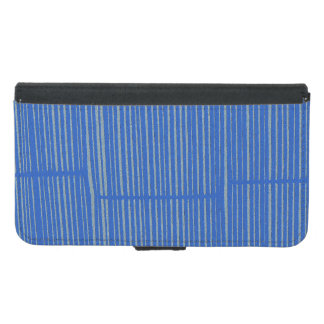 Cute Bright Blue Unique Modern Stripe Pattern Cool Samsung Galaxy S5 Wallet Case