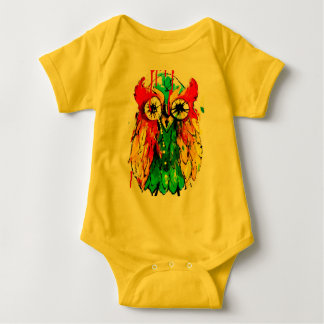 Cute bright coloured owl baby bodysuit