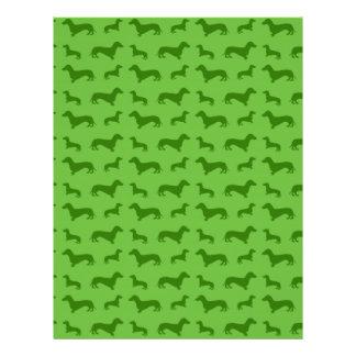 Cute bright green dachshund pattern flyers