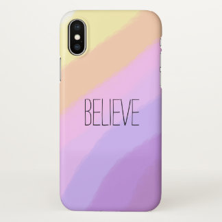 cute bright neon brushstrokes unicorn colors iPhone x case