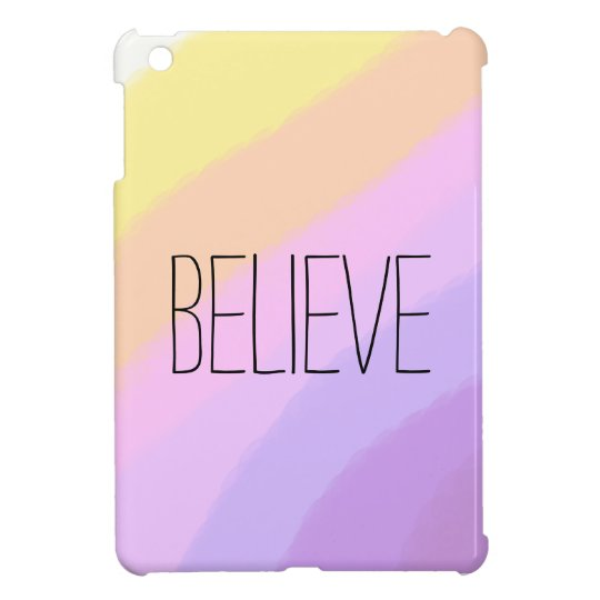 cute bright neon brushstrokes unicorn colours iPad mini