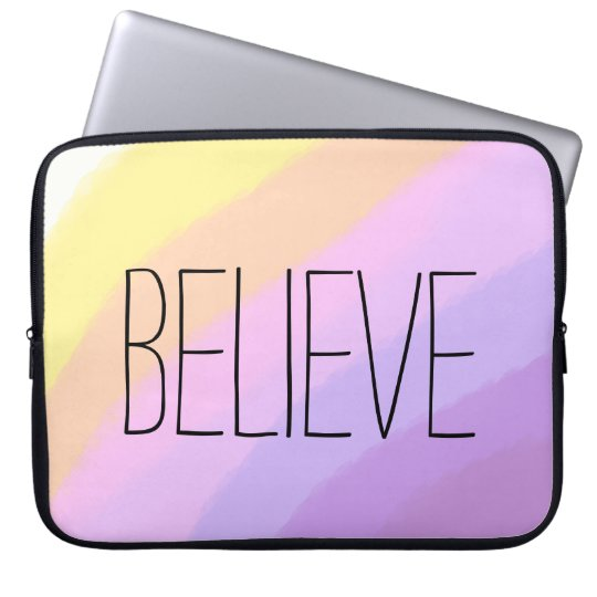 cute bright neon brushstrokes unicorn colours laptop sleeve