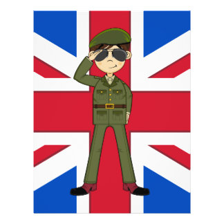Cute British Army Soldier Flyer