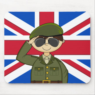 Cute British Army Soldier Mousepad