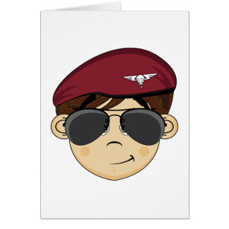 Cute British Red Beret Card