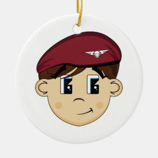 Cute British Red Beret Ornament