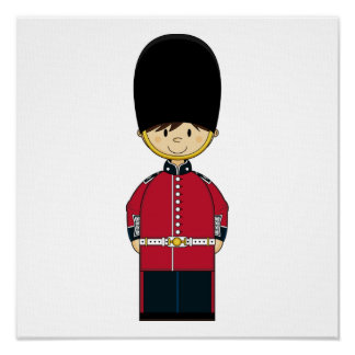 Cute British Royal Guard Canvas Poster