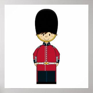 Cute British Royal Guard Canvas Poster