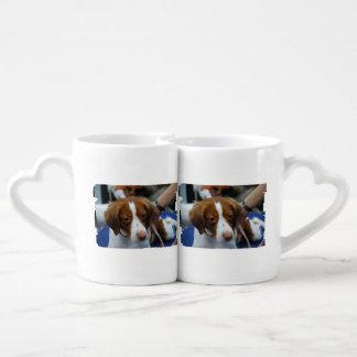 Cute Brittany Spaniel Couples Mug