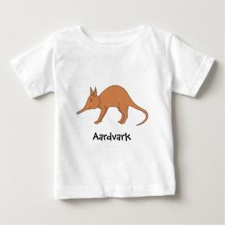 Cute Brown Aardvark Baby T-Shirt
