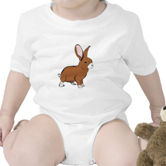 Cute Brown and White Bunny Rabbit Bodysuit
