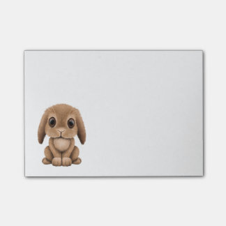 Cute Brown Baby Bunny Post-it® Notes