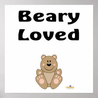 Cute Brown Bear Beary Loved Print