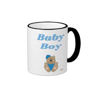 Cute Brown Bear Blue Baseball Cap Baby Boy Mug