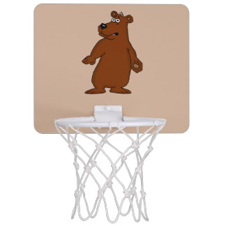 Cute brown bear design basketball goal mini basketball hoop