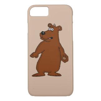 Cute brown bear design iPhone cases