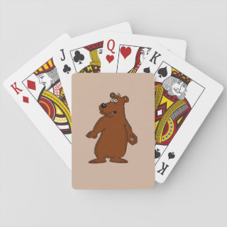 Cute brown bear design playing cards