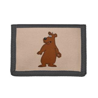 Cute brown bear design wallets