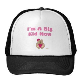 Cute Brown Bear Pink Baseball Cap I'm A Big Kid No