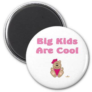 Cute Brown Bear Pink Sailor Hat Big Kids Are Cool Fridge Magnets