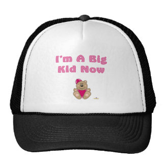 Cute Brown Bear Pink Snow Hat I'm A Big Kid Now