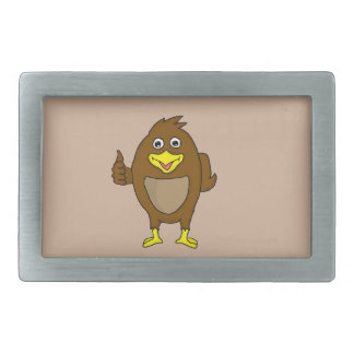 Cute brown bird design custom belt buckles
