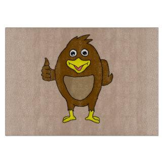 Cute brown bird design custom cutting boards