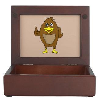 Cute brown bird design custom keepsake boxes