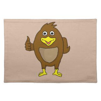 Cute brown bird design custom place mats