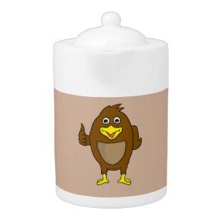 Cute brown bird design custom teapots