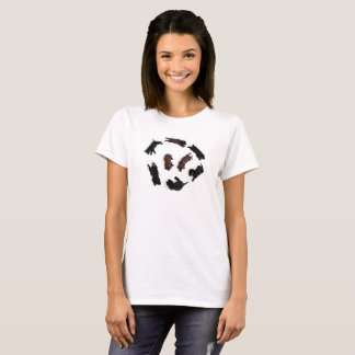 Cute Brown Black Labrador Retrievers Dogs T-Shirt