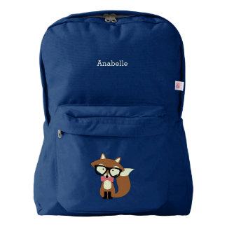 Cute Brown Bow Tie Fox Backpack
