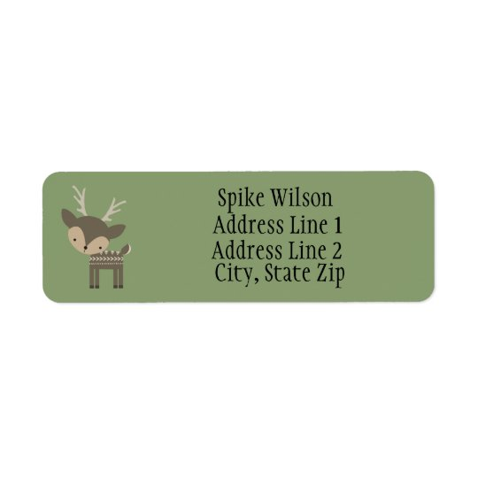 Cute Brown Buck Deer Custom Return Address Labels