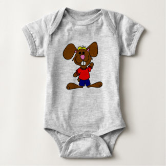 Cute Brown Bunny Baby Bodysuit