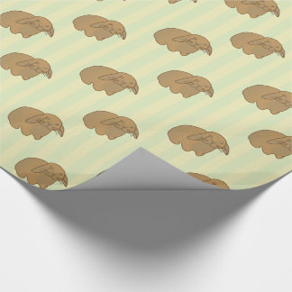 Cute Brown Bunny Wrapping Paper