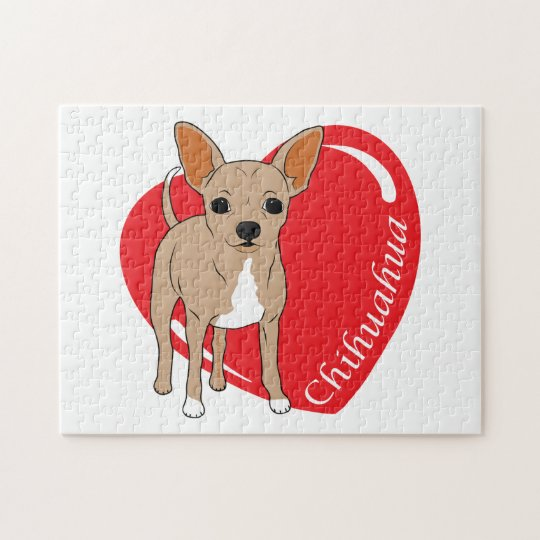 Cute Brown Chihuahua Lover Jigsaw Puzzle