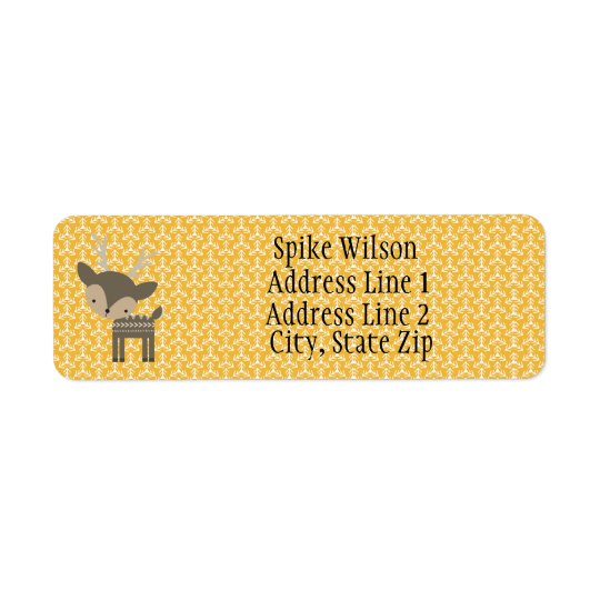 Cute Brown Deer Custom Return Address Labels