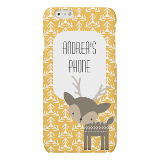 Cute Brown Deer Personalized Phone Case iPhone 6 Plus Case