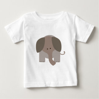 Cute Brown Elephant Baby T-Shirt