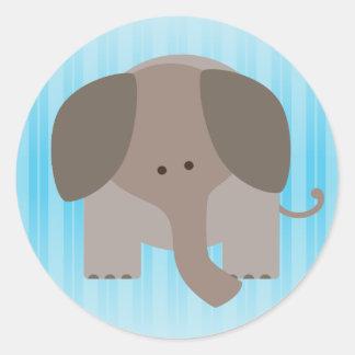 Cute Brown Elephant Classic Round Sticker