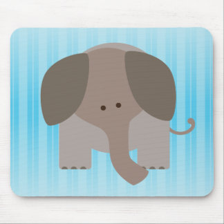 Cute Brown Elephant Mouse Pads