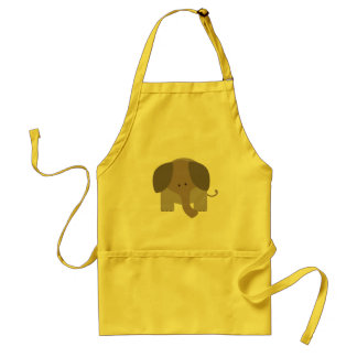 Cute Brown Elephant Standard Apron